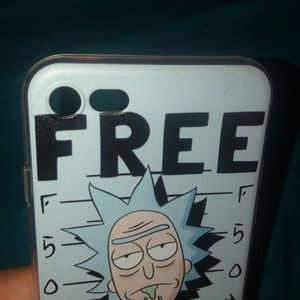 "rick and morty Accessories - Rick and morty ""Free rick"" Iphone 8 case"
